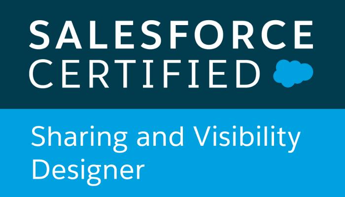 Salesforce certified, Sharing visibility Designer