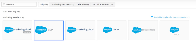 Load Data From Salesforce CDP into Datorama